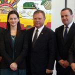 Diretor Técnico da ABIR, Igor Castro com ministro Blairo Maggi e representantes da CervBrasil