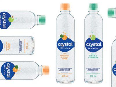 Crystal Sparkling é feita apenas com dois ingredientes – água gaseificada e aromas naturais (Crédito: Divulgação)